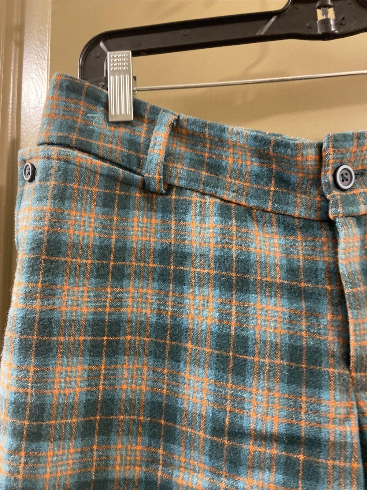 Penguin Wool Green Plaid Pants Sz 0 (item 9.8) - image 2