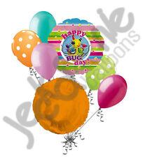 7 pc Miss Spider Bug Balloon Bouquet Happy Birthday Nickelodeon Nick Jr Cartoon