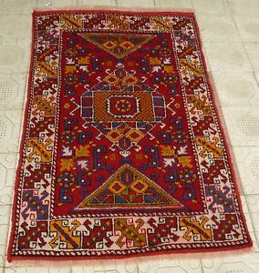 Fünfziger Jahre antik selten Turk-Kazak-chanakkale geometrische kaukasischer Teppich 4 M X 6 FT