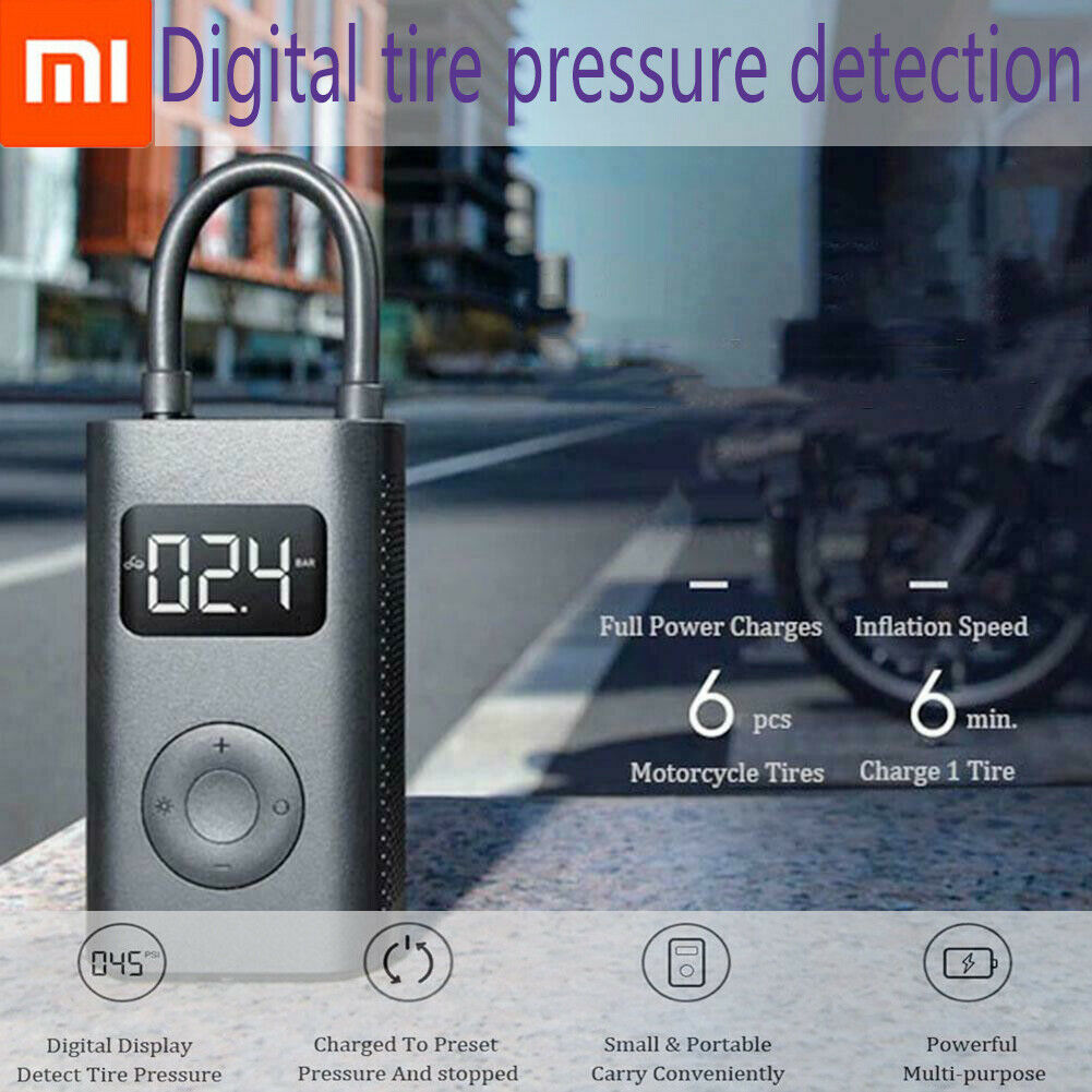 100% Xiaomi Mijia Inflatable Treasure Detection Ball Pump For Bicycle  Motorcycle  good reputation