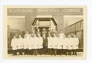 Harrisburg Autoparts Co RPPC Rare Antique Occupation Car Early Auto Photo