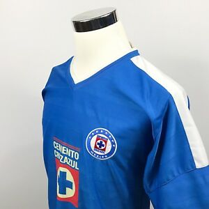 4779791c7e4 Image is loading Deportivo-Cemento-Cruz-Azul-Mens-Small-Soccer-Jersey-