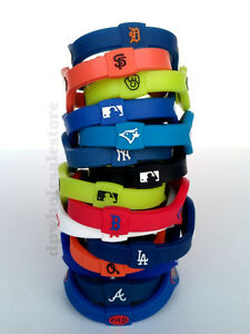 Image Is Loading Mlb Baseball Balance Team Bracelet Wristband Yankees
