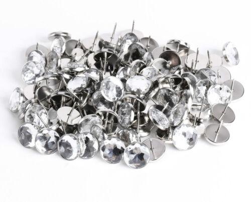 Diamante Crystal Glass Button Nail Back Upholstery Sofa Headboard Chair 22mm UK