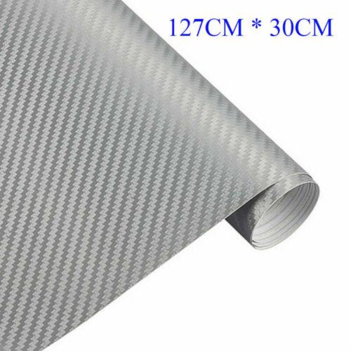 3D 127x30cm Carbon Fiber Vinyl Car Wrap Sheet Roll Film Sticker Decal