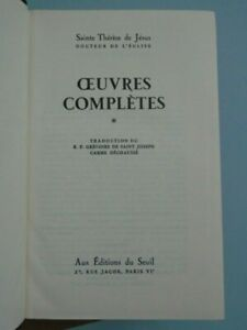 SAINTE-THERESE-DE-JESUS-OEUVRES-COMPLETES-TOME-1-ED-DU-SEUIL-1949