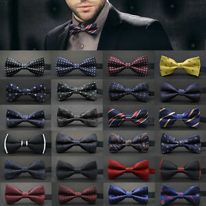 Fashion-Adjustable-Satin-Men-Tuxedo-Classic-Novelty-Wedding-Bow-Tie-Necktie