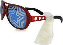 Uncle Sam Patriotic Rock /& Roller Costume Sunglasses w// 50s sideburns July 4th