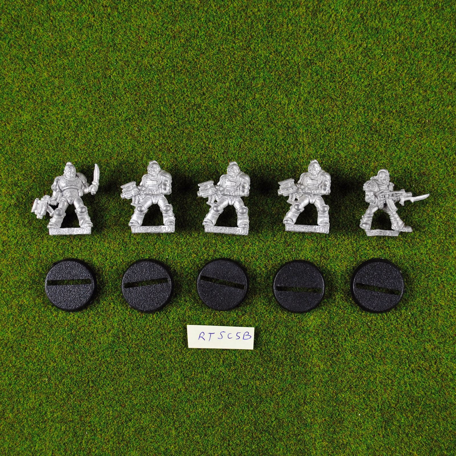 Warhammer 40K Space Marine Scouts (x5) Metal Rogue Trader Rare OOP Citadel Scout
