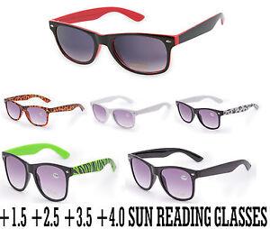Unisex Sun Readers +1.0 +1.5 +2.5 +4.0 READING SUNGLASSES GLASSES ... 80589bc09f02