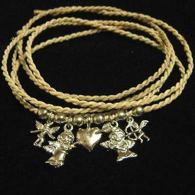 Jewelry & Watches Fashion Style Valentine Heart Love Angels Charm Bracelet Straw Coloured Adjustable Anklet Wrap Fashion Jewelry
