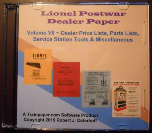 Lionel Postwar Dealer Paper Digital Collection Volume VII