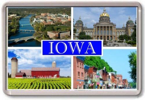 IOWA USA America TOURIST FRIDGE MAGNET Large