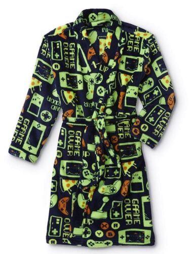 8 M,10//12 Large Boy Gamer Gaming Fleece Pajamas NEW Video Game Bath Robe Size 6