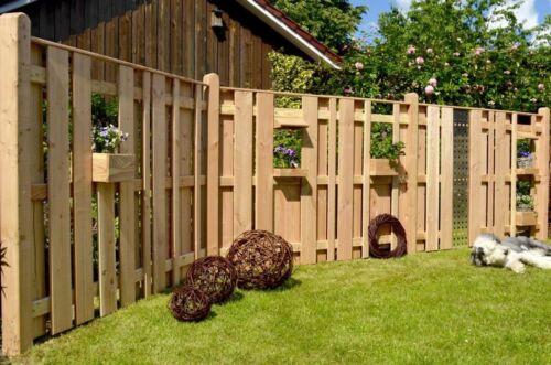 Lärchenzaun Dichtzaun Sichtschutzzaun AALBORG Terrassenzaun Gartenzaun Holz