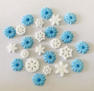 24-Edible-Frozen-Theme-Snowflake-amp-Flower-Cupcake-Toppers-Decoration-Party-Cake