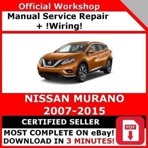 Factory Workshop Service Repair Manual For Nissan Murano 2007 2015 Wiring Ebay