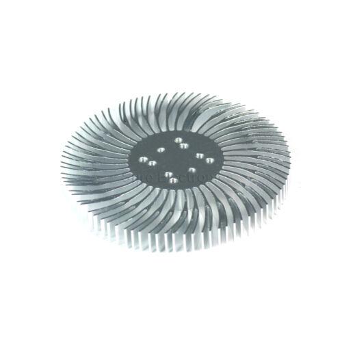5pcs 3.5x0.4inch Round Spiral Aluminum Alloy HeatSink for 1-10W LED Silver White