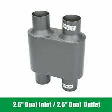 25 Dual Inlet 25 Dual Outlet Performance Chamber Race Muffler Exhaust