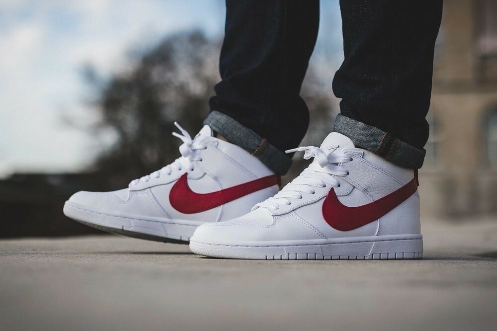 NIKE Homme DUNK LUX Basket CHUKKA RT Basket LUX blanc DISTANCE rouge RT 5a819b