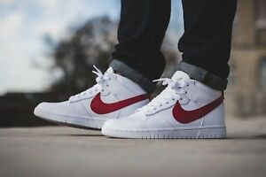 d1bbcee5d127 NIKE MEN S DUNK LUX CHUKKA  RT SNEAKER WHITE DISTANCE RED SIZE 8US ...