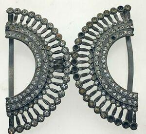 Antique-Art-Deco-Belt-Buckle-Sparkling-Dazzling-18-9g-Fancy-Dress-Missing-Stones