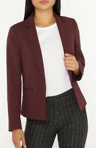 Beautiful-Smart-Causal-Burgundy-Blazer-Jacket-Size-6-to-18