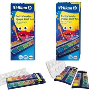 PELIKAN-Farbkasten-K12-oder-K24-Tuschkasten-Wasserfarbe-Deckfarbkasten