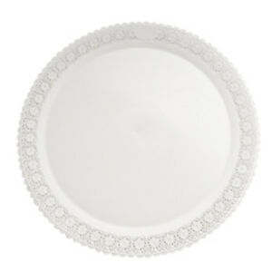 Image is loading Mashers-Trondo-38cm-Round-White-Plastic-Disposable-Serving-  sc 1 st  eBay : plastic serving plates - pezcame.com