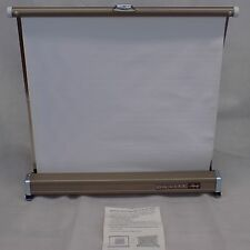 Vintage Da-Lite Tabletop Screen Slide, Projector, and Movie 18x17 Inches