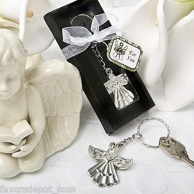 50 Guardian Angel Key Ring Favors Wedding Baptismal Christening Communion Favor
