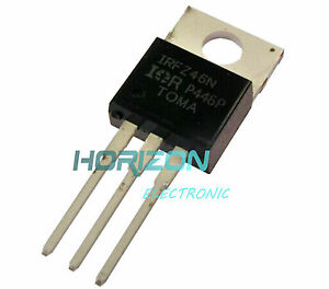 5Pcs IRFZ46N IRFZ46 TO-220 N-Channel 53A 55V Transistor MOSFET NEW