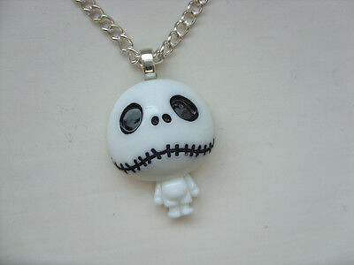 Cute Nightmare Before Christmas Jack Skellington Silver Chain Necklace  Free p&p