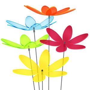 5 Stück SUNPLAY Sonnenfänger Ø20cm Suncatcher, Gartenstecker Lotusblume FARBMIX