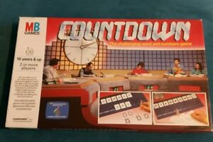 COUNTDOWN-Words-amp-Numbers-Board-Game-MB-Games-1987-Vintage-Channel-4-Complete