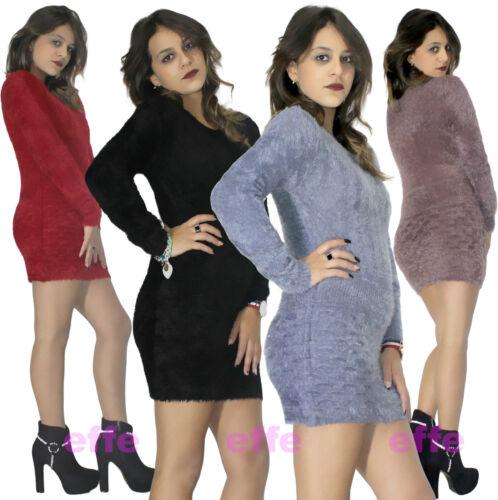 Miniabito donna vestito  maglione Maxipull abito corto nuovo 821