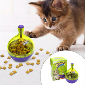 Interactive-Cat-IQ-Treat-Ball-Toy-Smarter-Pet-Toy-Food-Balls-Food-Dispenser-New