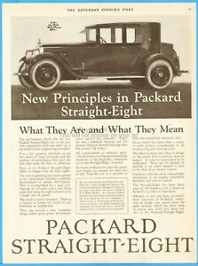 1923 Packard Straight Eight Antique Automobile Closed Motor Car Art Ad