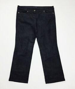 caractere-pantalone-donna-velluto-coste-capri-W32-tg-46-gamba-dritta-usato-T4766