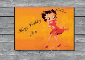 Detalles De Personalizada Betty Boop Estilo 1 Tarjeta De Cumpleaños Ver Título Original