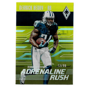 2016 Phoenix Adrenaline Rush Derrick Henry Yellow #AR-DH Rookie Card RC #72/99