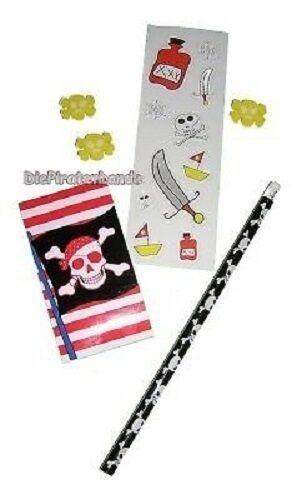 6x Schreibset Pirat für Piratenparty Piratenfest Mitgebsel Kindergeburtstag neu