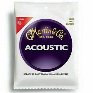 Martin 80/20 Bronze Light Acoustic Guitar Strings - M140