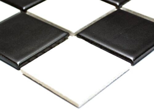 Mosaiksteine Schachbrett schwarz weiss matt Keramikfliese 14-0304/_f Art