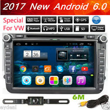 """8"""" In-Dash 2DIN Android 6.0 Quad Core Car DVD Player Radio GPS Navi For VW+CAM"""