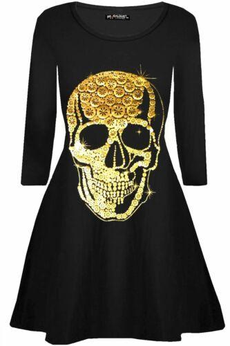 Femmes Vampire Horreur Sang Halloween Squelette Coeur Costume Party robe Swing