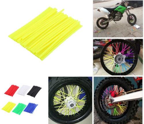 Wheel Spoke Wraps Kit Rims Covers Skins Guard Protector Motocross Dirt Bike 36x