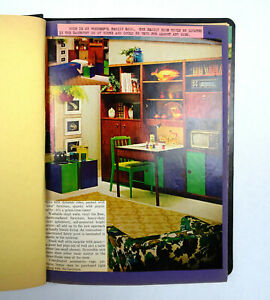 Vintage-Scrapbook-1968-Home-Economics-School-Project-Student-Authentic-Magazine