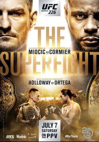 "UFC 226 Holloway VS Ortega MMA Event Poster Art Print 24x36/""//60x90cm"