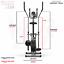 miniatura 7 - Deluxe 2-in - 1 Cross Trainer & Cyclette Allenamento di cardio fitness con sedile
